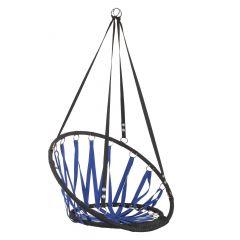 Závěsné houpací křeslo SPRINGOS FUTURA 80 cm modro-černé