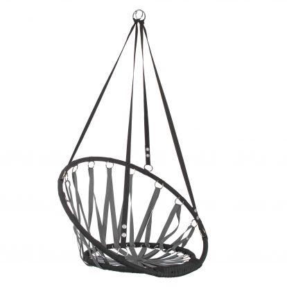 Závěsné houpací křeslo SPRINGOS FUTURA 80 cm šedo-černé