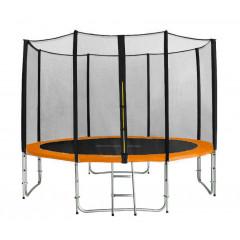 Trampolína SEDCO 305 cm s ochrannou sítí + žebřík oranžová