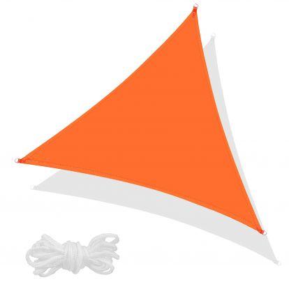Stínící sluneční plachta 3,5 x 3,5 x 3,5 m oranžová SPRINGOS