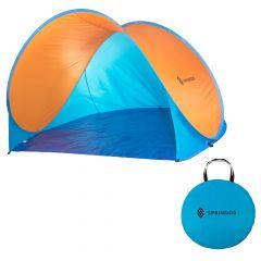 Samorozkládací plážový stan SPRINGOS TEXAS oranžový/modrý