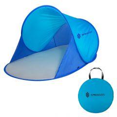 Samorozkládací plážový stan SPRINGOS TRAMP modrý