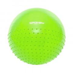 Spokey HALF FIT Gymnastický míč 2v1 masážní zelený, 65 cm včetně pumpičky