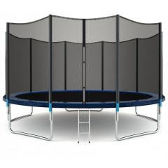 Trampolína SEDCO 456 cm s ochrannou sítí + žebřík modrá