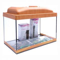 Akvárium set STARTUP 40 SELECTO LEDX 1x4W DIVERSA rovný, višeň