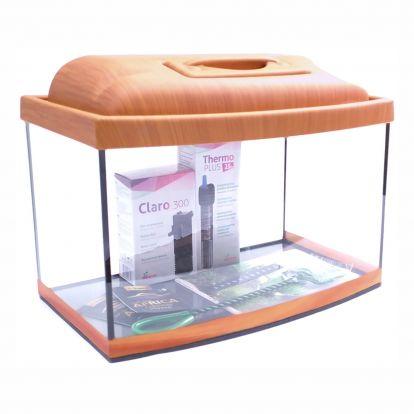 Akvárium set STARTUP 40 SELECTO LEDX 1x4W DIVERSA vypouklý, višeň