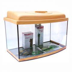 Akvárium set STARTUP 50 SELECTO LEDX 1x10W DIVERSA vypouklý, buk