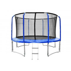 Trampolína SEDCO SUPER LUX SET 426 cm s ochrannou sítí + žebřík modrá