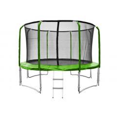 Trampolína SEDCO SUPER LUX SET 426 cm s ochrannou sítí + žebřík zelená