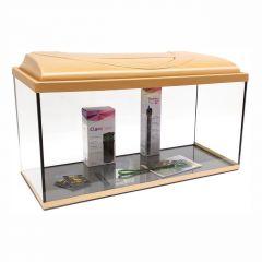 Akvárium set STARTUP 80 SELECTO LEDX 1x17W DIVERSA rovný, buk