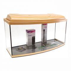 Akvárium set STARTUP 80 SELECTO LEDX 1x17W DIVERSA vypouklý, buk