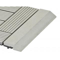Přechodová lišta G21 Incana pro WPC dlaždice, 30 x 7,5 cm rovná