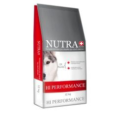 Prémiové granule pro psy Hi-Performance 12kg Nutra Pluss - poškozený obal