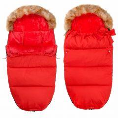 Zimní fusak s kožíškem 4v1 SPRINGOS PRESTIGE červený
