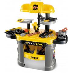 Dětské nářadí G21 pracovní stůl žlutý
