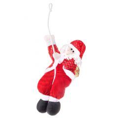 Vánoční Santa Claus na laně 120 cm, červený