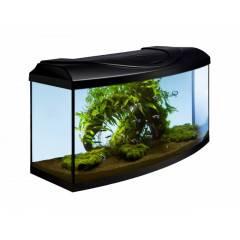 Akvárium set STARTUP 80 LED EXPERT vypouklý 112l DIVERSA, černá - II. JAKOST