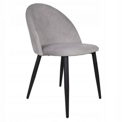 Designová židle SPRINGOS ASTON světle šedá