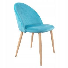 Designová židle SPRINGOS ASTON světle modrá