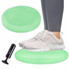 Balanční a masážní podložka + pumpička SPRINGOS PROMEDIC světle zelená