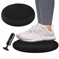 Balanční a masážní podložka + pumpička SPRINGOS PROMEDIC černá