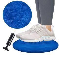 Balanční a masážní podložka + pumpička SPRINGOS PROMEDIC tmavě modrá