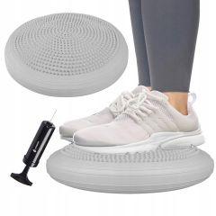 Balanční a masážní podložka + pumpička SPRINGOS PROMEDIC šedá