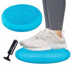 Balanční a masážní podložka + pumpička SPRINGOS PROMEDIC světle modrá