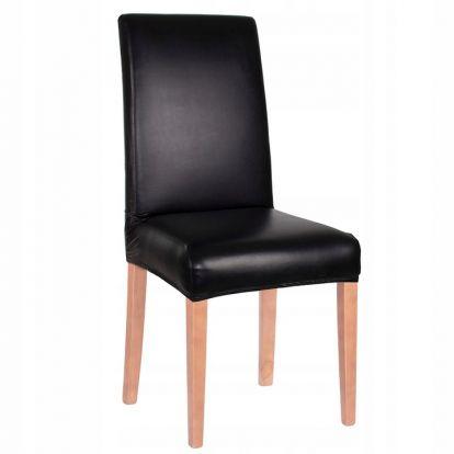 Potah na židli elastický SPANDEX černý imitace kůže