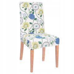 Potah na židli elastický SPANDEX bílý s květy