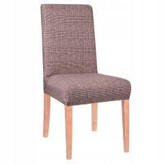 Potah na židli elastický SPANDEX hnědé káro