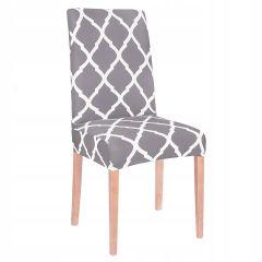 Potah na židli elastický SPANDEX MAROKO šedý