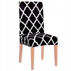 Potah na židli elastický SPANDEX MAROKO černý