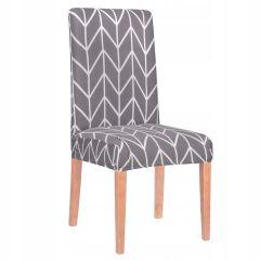 Potah na židli elastický SPANDEX HERRING šedý