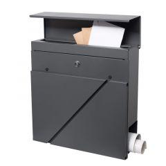 Poštovní schránka SPRINGOS VADUZ 37x37x11 cm antracit