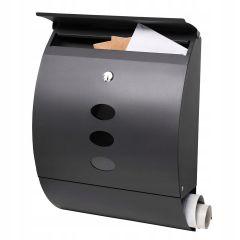 Poštovní schránka SPRINGOS RIGA 40x30x12 cm antracit