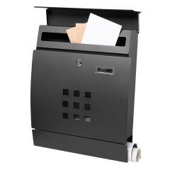 Poštovní schránka SPRINGOS STOCKHOLM 44x35x11 cm černá mat