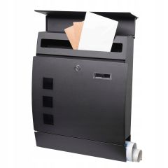 Poštovní schránka SPRINGOS SOFIA 44x35x11 cm černá mat