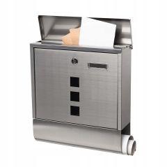 Poštovní schránka SPRINGOS ROMA 34x31x10 cm nerez