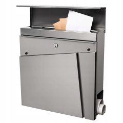 Poštovní schránka SPRINGOS ESSEN 37x37x11 cm nerez