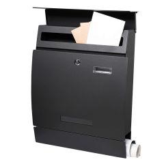 Poštovní schránka SPRINGOS LINZ 45x35x10 cm černá mat