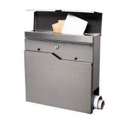 Poštovní schránka SPRINGOS DORTMUND 37x37x11 cm nerez