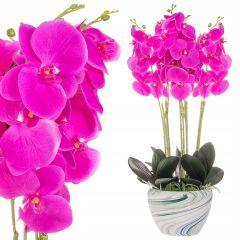 Umělá Orchidej s květy 75 cm růžová, 40 květů