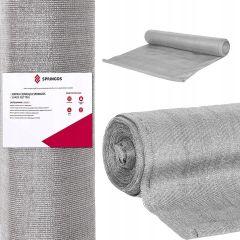 Stínící tkanina 150cm x 50m, 90% zastínění, 140g/m2 šedá SPRINGOS