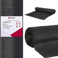 Stínící tkanina 150cm x 25m, 65% zastínění, 65g/m2 černá SPRINGOS