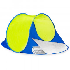 Spokey ALTUS Samorozkládací outdoorový paravan, 195x100x85 cm - modro-žlutý