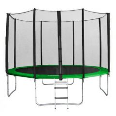 Trampolína SEDCO 366 cm s ochrannou sítí + žebřík zelená