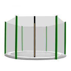 Ochranná síť SPRINGOS na trampolínu 180 cm (6 ft) / 6 tyčí černá/tmavě zelená