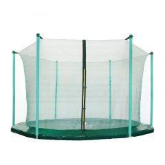 Vnitřní ochranná síť SPRINGOS na trampolínu 180 cm (6 ft) / 6 tyčí tmavě zelená