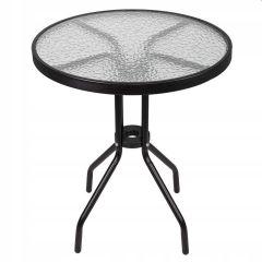 Zahradní stolek SPRINGOS BARI 60 cm černý